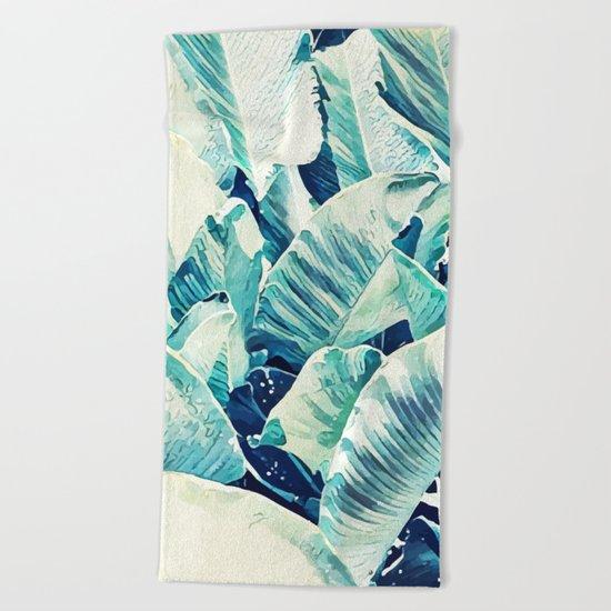 Banana Leaf Crush #society6 #decor #buyart Beach Towel