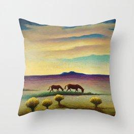 American Masterpiece 'Desert Dawn' by Thomas Hart Benton Throw Pillow