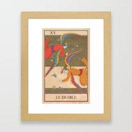 Tarot Card-The Devil-Le Diable Framed Art Print