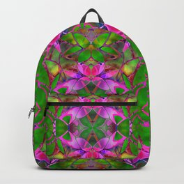 Floral Fractal Art G374 Backpack