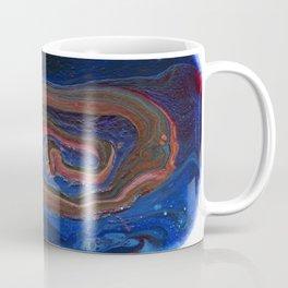 Fluid Acrylic VIII - Negative space fluid pour painting Coffee Mug