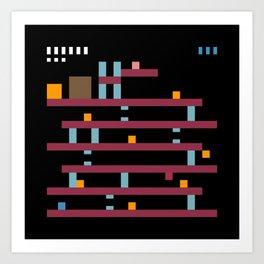 Minimal NES: Donkey Kong Art Print
