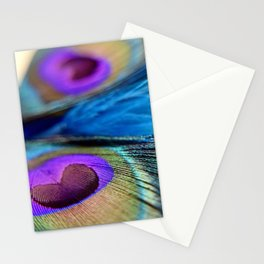 """Peacock Feathers"" Stationery Cards"