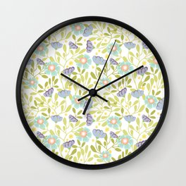 Sage and Poppy Wall Clock