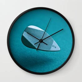Blue Guitar Plectrum - Abstract Minimalist Music Photography Wall Clock