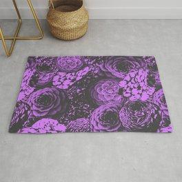 Moody Florals in Purple Rug