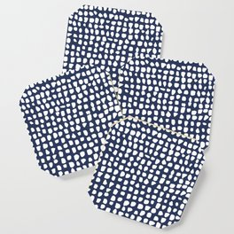 Dots / Navy Coaster