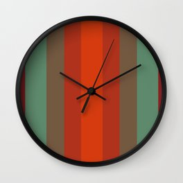 Rust Turquoise Spice 2 - Color Therapy Wall Clock