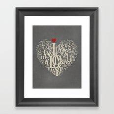 Red Heart Love Framed Art Print