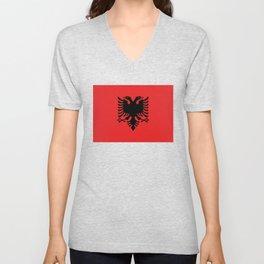 Flag of Albania - Authentic version Unisex V-Neck