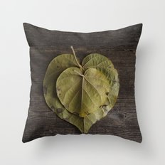 I heart leaves Throw Pillow