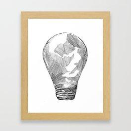 Light Bulb Study Framed Art Print