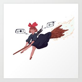 Star chasing Kiki Art Print