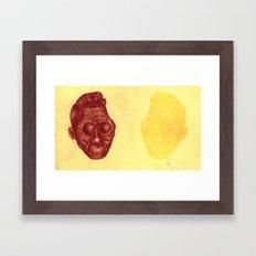 Faded reflection Framed Art Print