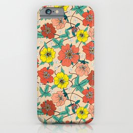 Potentillas and Daisies iPhone Case