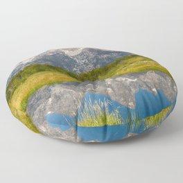 Schwabacher Landing Reflection - Grand Teton National Park Floor Pillow