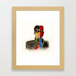 The red hood Framed Art Print