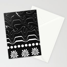 Licorice and flowers Stationery Cards
