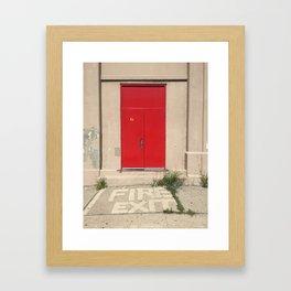 Fire Exit Framed Art Print