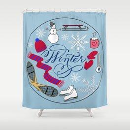 Winter Wonderland Fun Shower Curtain
