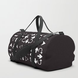 Arrows black and white Duffle Bag