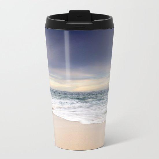 Tranquil Beach Metal Travel Mug