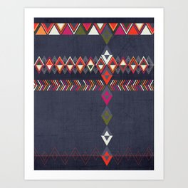 Tribal Pattern 25 Art Print