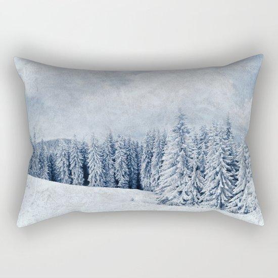 Pretty winter scenery landscape  Rectangular Pillow