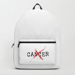 Annihilate Cancer (Black Text) Backpack