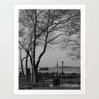 Fall in New York Art Print