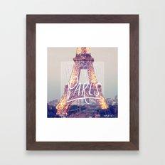 let's go to paris Framed Art Print