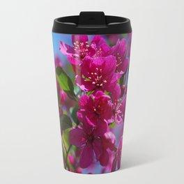Rosy spring crabapple blossoms - Malus 'Prairifire' Travel Mug
