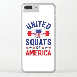 United Squats Of America Clear iPhone Case