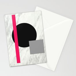 Geo & marble 1 Stationery Cards