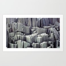 ABSTRACT STONE PATTERN Art Print