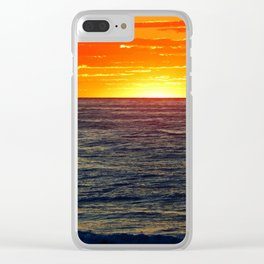Paddle Boarding at Sunset Clear iPhone Case