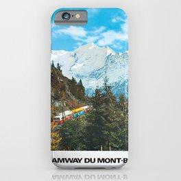 Classic le tramway du mont blanc st gervais iPhone Case