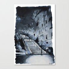Blue night - Paris painting Canvas Print