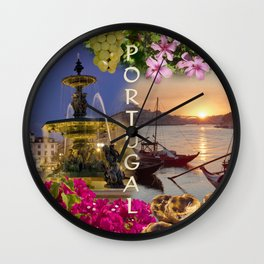 Montage Portugal Wall Clock