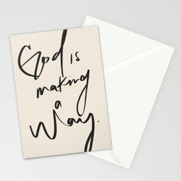 God is Making a Way Stationery Cards