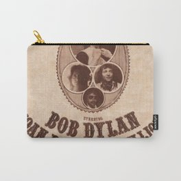 Vintage 1975 Bob Dylan and Rolling Thunder Review Flyer - Poster Providence Concert Carry-All Pouch