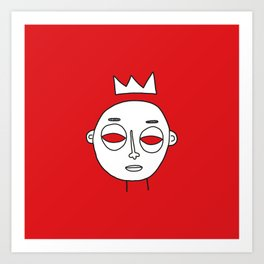 Faces 04 Art Print