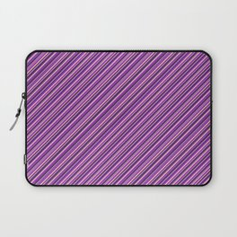 Lilac Purple Violet Inclined Stripes Laptop Sleeve