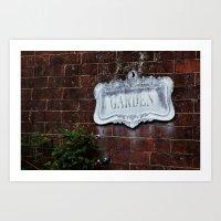 Garden Sign Art Print