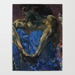 Mikhail Vrubel - The Demon seated Poster