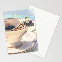 A Nice Cup of Gecko Stationery Cards