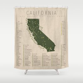 California Parks Shower Curtain