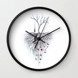 Pesadas Raíces Pasadas Wall Clock