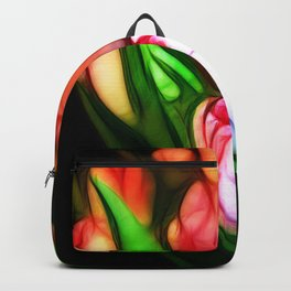 Abstract PinkTulips Backpack