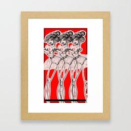 Red Revolution Framed Art Print